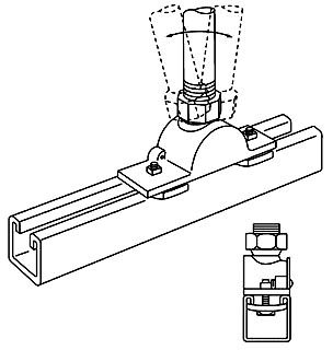 SC G-977 STEEL SWING CONNECTOR