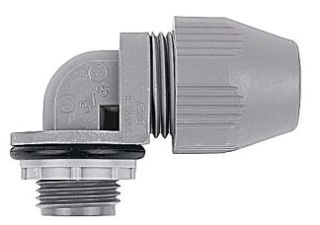 Steel City LT-590 3/8 Inch 90 Degree Plastic Liquidtight Connector