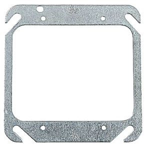 Steel City 52-C-00 2-Gang 4 Inch Steel Flat Square Box Cover