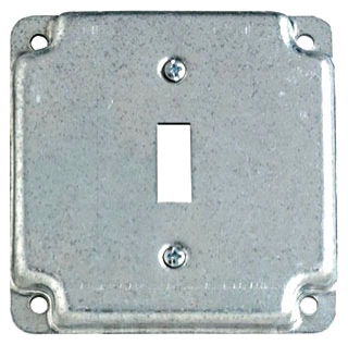 """Steel City RS9 4"""" Square Box Cover, 1-Toggle, Steel"""