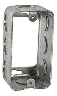 Steel City 59361-1/2 4 x 2-1/8 Inch Dimensions 13 In Steel Utility Box Extension Ring with 1/2 Inch Knockouts