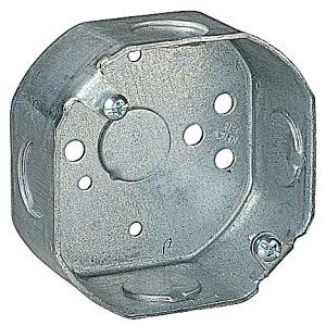 Steel City 241511/2-25 3-1/2 x 1-1/2 Inch Size 11.8 In Volume Steel Octagon Box with 1/2 Inch Knockout