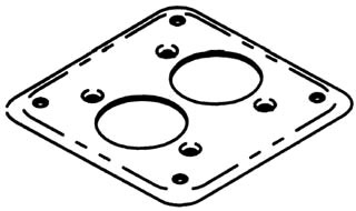 BOWERS 475 1/8D 2-SINGLE RCPT COVER*NON-RETURNABLE TO MANUFACTURER*