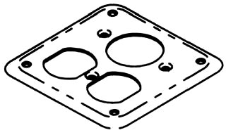 BOWERS 477-NEC 1/8D COMB RCPT CVR*NON-RETURNABLE TO MANUFACTURER*