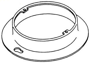 BOWERS 501-CA 3/4D 4-IN PLAS-RING*NON-RETURNABLE TO MANUFACTURER*