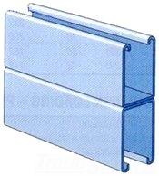 Unistrut P5501 10PG 1-5/8 x 4-7/8 Inch Solid 12 Gage Back-To-Back Strut
