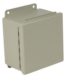 Wiegmann B141208CH 12 x 14 x 8 Inch Gray Steel NEMA 12/13 Unflanged Metallic Enclosure