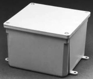 12 X 12 X 4 Inch PVC Molded Junction Box with Cover