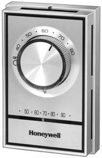 Honeywell T498B1553 22 Amp 277 VAC DPST Bimetal 40 to 80 Degrees F Non Programmable Electric Heat Thermostat