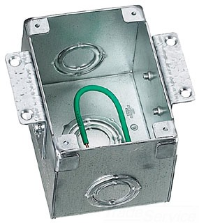 Hubbell Wiring Devices B2481 1-Gang 42 In Stamped Steel Rectangular Floor Box