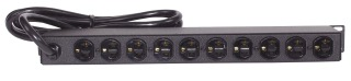 Hubbell Wiring Devices HPWPWR 15 Amp 120 Volt Rack Mount Horizontal Power Strip