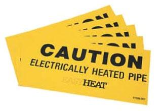 EGS Easy Heat CS Caution Signs