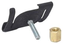 B-Line Series BA-2-16-WBN 15/16 Inch T-Bar 5/8 Inch Stud White Twist Fastener with Brass Nut
