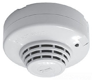 Edwards Signaling SC30U-3B 14 to 30 VDC 100 mA White Plastic Photoelectric Smoke Detector with Base