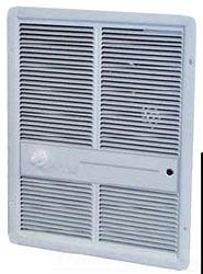 TPI Corporation HF3315TRP 240 Volt 12.5 Amp 3000 W 10240 BTU/HR 1-Pole Ivory Fan Forced Wall Heater