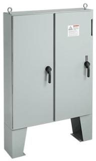 Hoffman A72X7324LPFTC 72.13 x 73.75 x 24.12 Inch White Steel NEMA 12 2-Door Free Stand Disconnect Enclosure