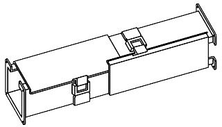 Hoffman F44LKT 4 x 4 Inch NEMA 12 Gray Steel Lay-In Clockwise Wireway Straight Section