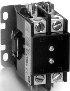 GE Industrial Solutions 453CA2HAA 2-Pole 24 Volt 20 Amp Compact Full Voltage Definite Purpose Contactor