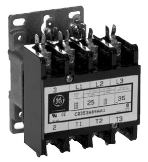 GE Industrial Solutions CR353AB3AA1 3-Pole 120 Volt 25 Amp Standard Full Voltage Definite Purpose Contactor