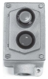Crouse-Hinds Series EDS2184 600 VAC 1-Circuit Iron Alloy Dead End Push Button Control Station