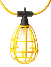 EPCO 16301 100 Foot Yellow 14/3 SJTW Round Cord Light with 10 Foot Molded Plug