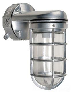 Hubbell Lighting VWGG-150 Wall Mount Incandescent Vaporproof Light Fixture with Bracket and Box