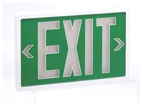 NOR NX-606-TRI/G10 EXIT SIGN-GRN