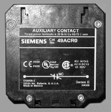 Siemens Industry 49ACR0 20 to 60 Amp 1NO Contactor Auxiliary Contact Kit