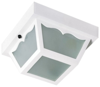 SATCO 77/835 8 Inch 60 W 1-Lamp White Flush Mount Light Fixture