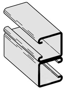 B-Line Series B22C-120HDG 1-5/8 x 1-5/8 Inch Side By Side 120 Inch Galvanized Channel