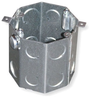 Crouse-Hinds Series TP643 4 x 4 Inch Steel Octagon Concrete Box