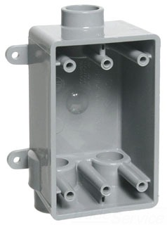 1/2 Inch FSCC Style PVC Gang Box with Lugs