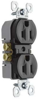 Pass & Seymour 3232-TR 15 Amp 125 VAC 2-Pole 3-Wire NEMA 5-15R Brown Thermoplastic Duplex Receptacle