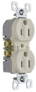 Pass & Seymour 3232-TRLA 15 Amp 125 VAC 2-Pole 3-Wire NEMA 5-15R Tamper Resistant Duplex Receptacle, Light Almond
