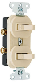 P&S 670-G COMBO 2 SWITCHES 1P 20A 1