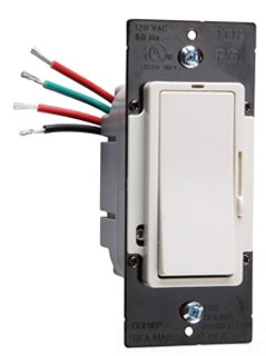 Pass & Seymour DDH16-PIV 120 Volt 1.6 Amp 1-Pole 3-Way Ivory Slide with Preset On/Off Fan Speed Control