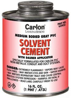 1 Quart Brush Top PVC Cement