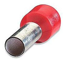 Sta-Kon F4024 0.571 Inch 18 to 17 AWG Nylon Insulation Red Tinned Copper Wire Ferrule Terminal
