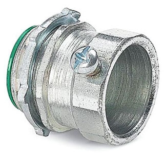 Steel City TC129US 3-1/2 Inch Zinc Plated Steel Non-Insulated EMT Connector