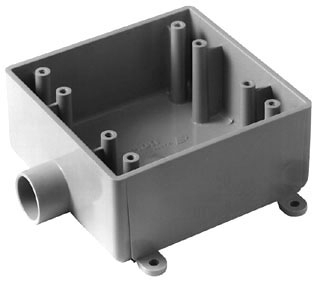 Carlon E9802E 2-Gang 3/4 Inch 2 FSE Weatherproof Box