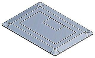 Carlon E9761S Single Slate Cover Assembly