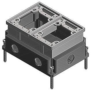 SC 642-AL 2-G FLUSH FLR-BX HUB3/4IN