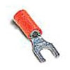 Catamount TV14-8LF-XV 16 to 14 AWG #8 Stud Blue Electrotinned Copper Vinyl Insulated Locking Fork Terminal