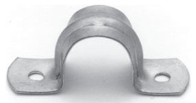Crouse-Hinds Series 496 9 2-1/2 Inch Galvanized Steel 2-Hole EMT Conduit Strap
