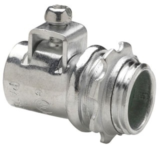 Crouse-Hinds Series ACB150 1-1/2 Inch Steel FMC Straight AC/MC Connector
