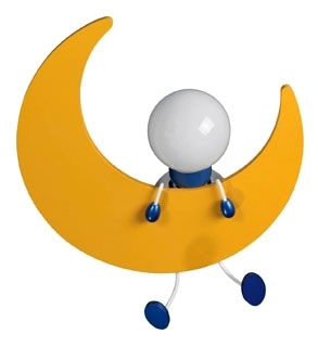 Philips,302685548,Crescent Moon Children's Flush Mount