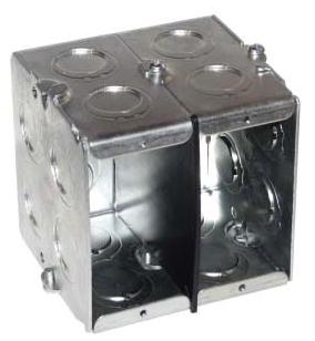 Crouse-Hinds Series TP675 1-5/16 x 3-1/2 x 3-3/4 Inch Steel Gangable Masonry Box