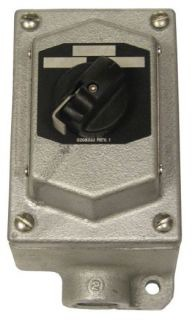 Crouse-Hinds Series EDS21271 600 VAC 2-Position 2-Circuit Iron Alloy Dead End Selector Switch Control Station