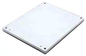 B-Line Series N6036P 60 x 36 Inch White Steel Panel for Hinge Cover Enclosure