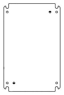Hoffman ATEX26P26 8.44 x 8.44 Inch White Enclosure Panel